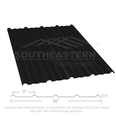 10 Year Metal Roofing (29 gauge) - Flat Black