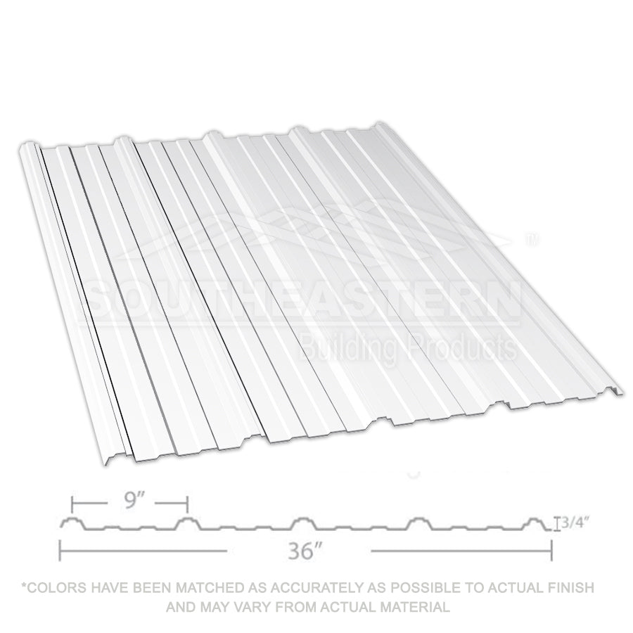 10 Year Metal Roofing (29 gauge) - Bright White