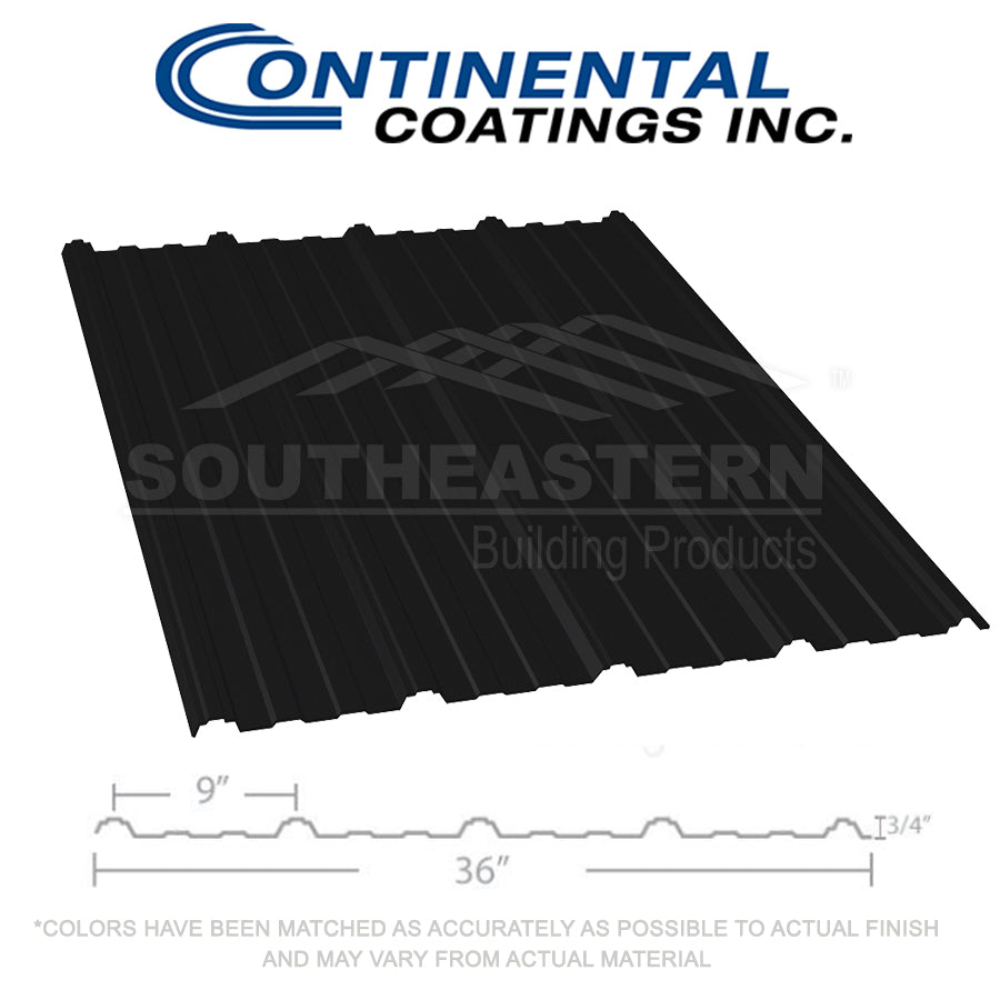 40 Yr Metal Roofing (29 gauge) - Black