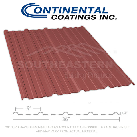 40 Yr Metal Roofing (29 gauge) - Burgundy