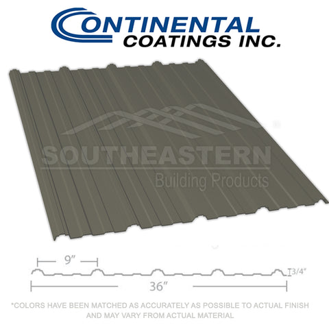 40 Yr Metal Roofing (29 gauge) - Burnished Slate