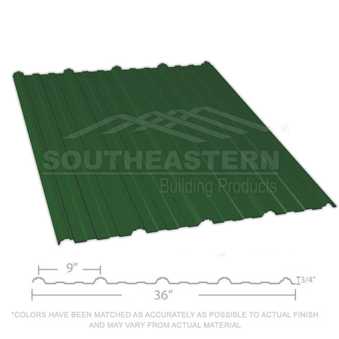 10 Year Metal Roofing (29 gauge) - Hunter Green