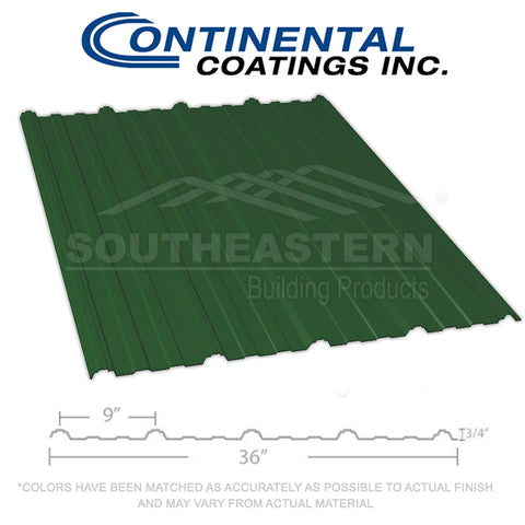 40 Yr Metal Roofing (29 gauge) - Hunter Green