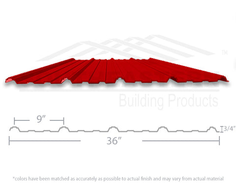 40 Year Metal Roofing - Bright Red