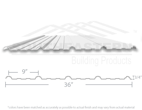 40 Yr Metal Roofing (29 gauge) - Bright White