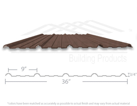 40 Year Metal Roofing - Cocoa Brown
