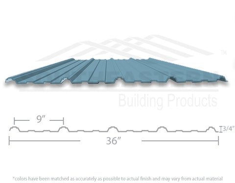 40 Yr Metal Roofing (29 gauge) - Hawaiian Blue