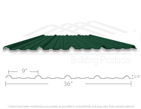 40 Year Metal Roofing - Hunter Green