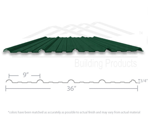 10 Year Metal Roofing - Hunter Green