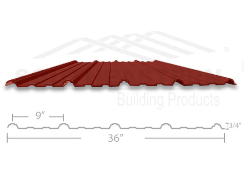 40 Year Metal Roofing - Barn Red