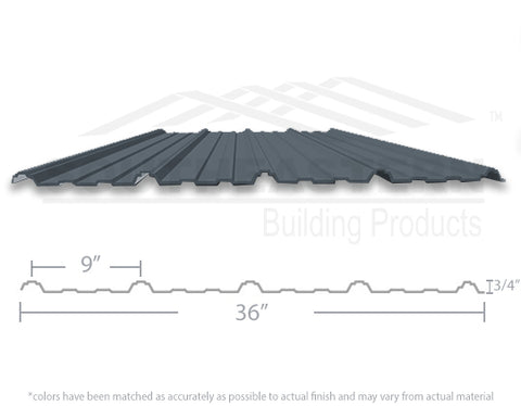 40 Yr Metal Roofing (29 gauge) - Charcoal