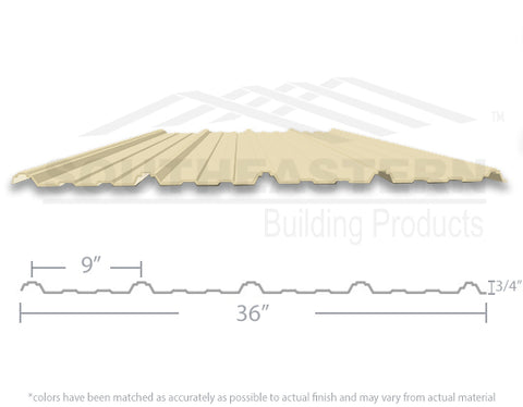 40 Year Metal Roofing - Ivory