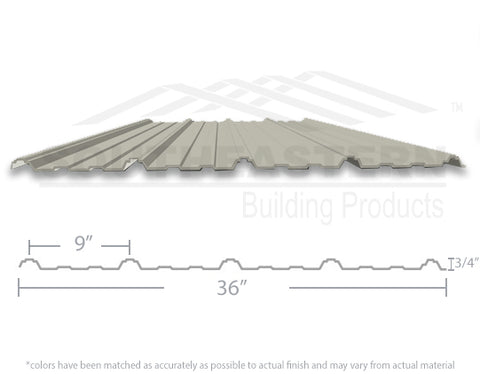10 Year Metal Roofing - Light Stone