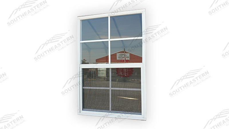 "24""x48"" White Grid (INSULATED) Window"