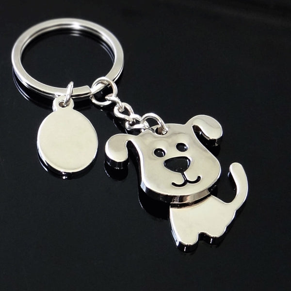 Happy Dog Keychain