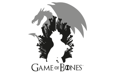 GAME OF BONES DOG AND DRAGON WOMEN'S T-SHIRT