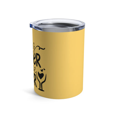 Dog Mother Wine Lover Insulated Tumbler in Yellow