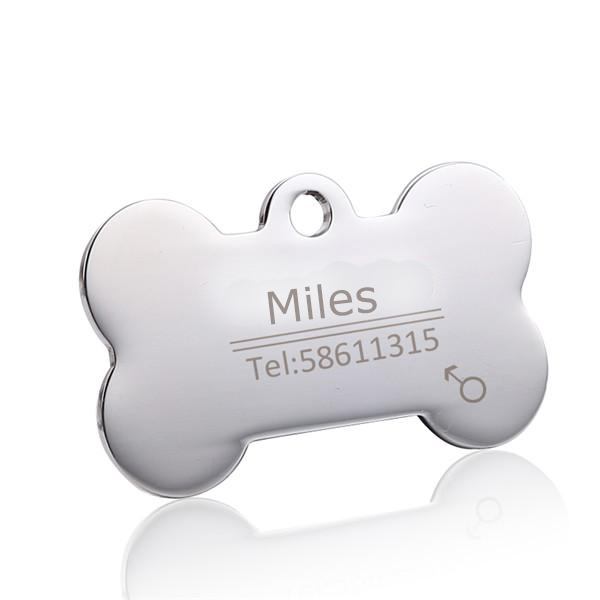 LostProtection™ Personalized Stainless Steel Dog Tag