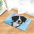 Border Collie Angel Dog Door Mat