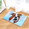 English Bulldog Dog Angel Door Mat