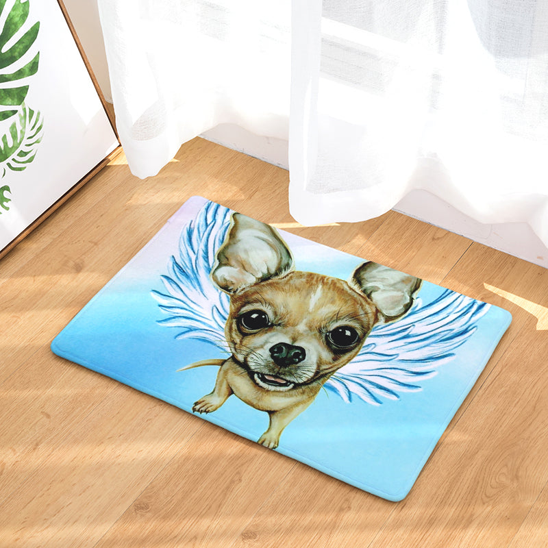 Chihuahua Dog Angel Door Mat