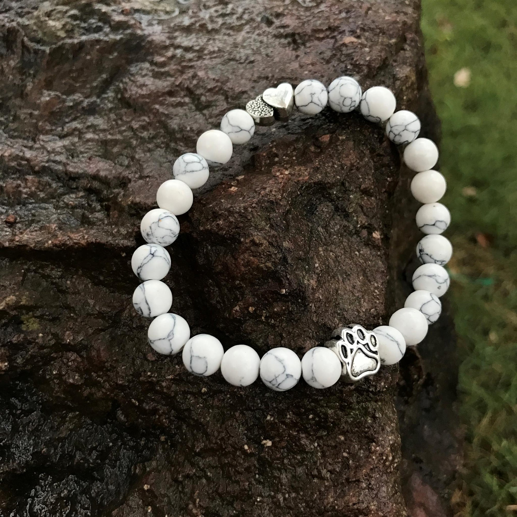 Dog Paw and Heart Bracelet