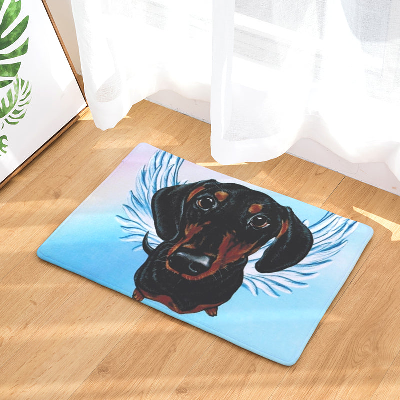 Dachshund Dog Angel Door Mat