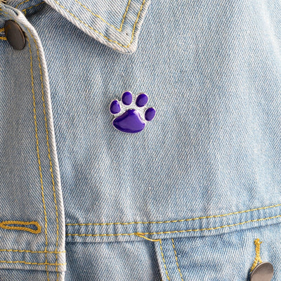 Premium Purple Paw Print Brooch
