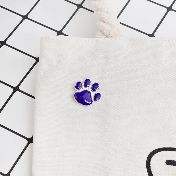 Purple Paw Print Brooch