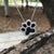 Dog Print Crystal Necklace