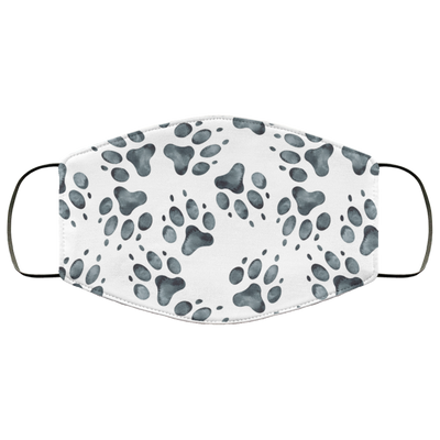 Watercolor Paw Prints Premium Face Mask