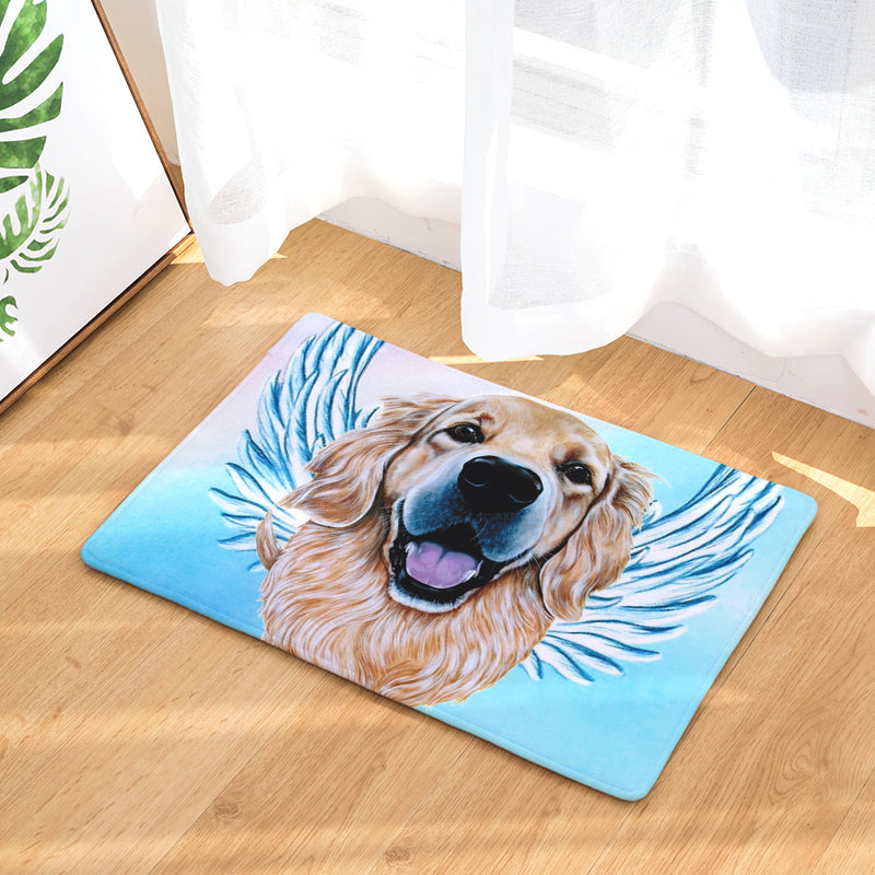 Golden Retriever Dog Angel Door Mat