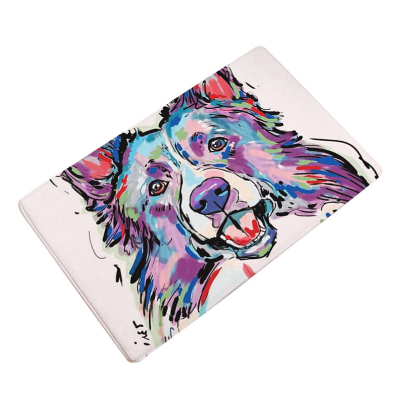 Artful Doggy Border Collie Non-Slip Welcome Mat