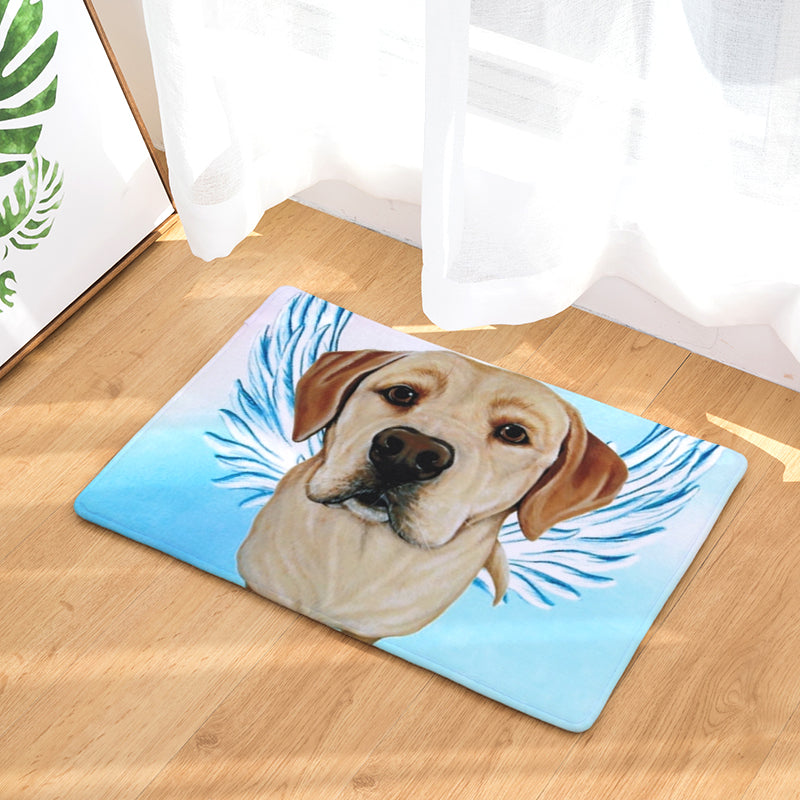 Labrador Dog Angel Door Mat