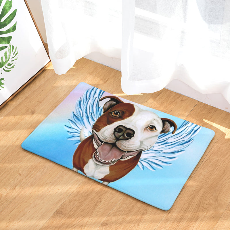 Pit Bull Dog Angel Door Mat