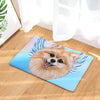 Pomeranian Dog Angel Door Mat