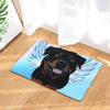 Rottweiler Dog Angel Door Mat