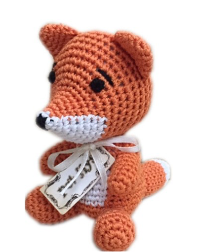 Clean Smile Cuties Fox Dog Toy