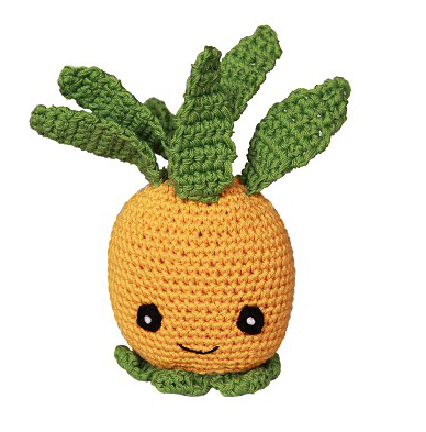 Clean Smile Cuties Pineapple Dog Toy