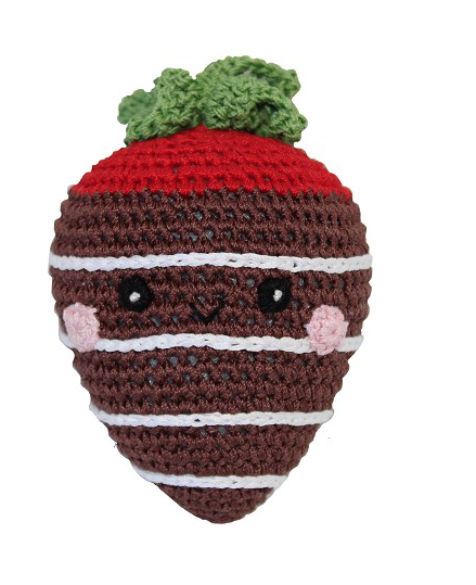Clean Smile Cuties Chocolate Strawberry Dog Toy