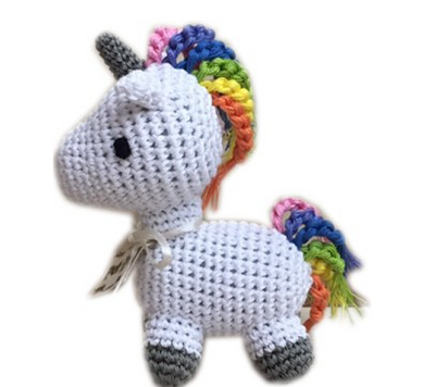 Clean Smile Cuties Unicorn Dog Toy