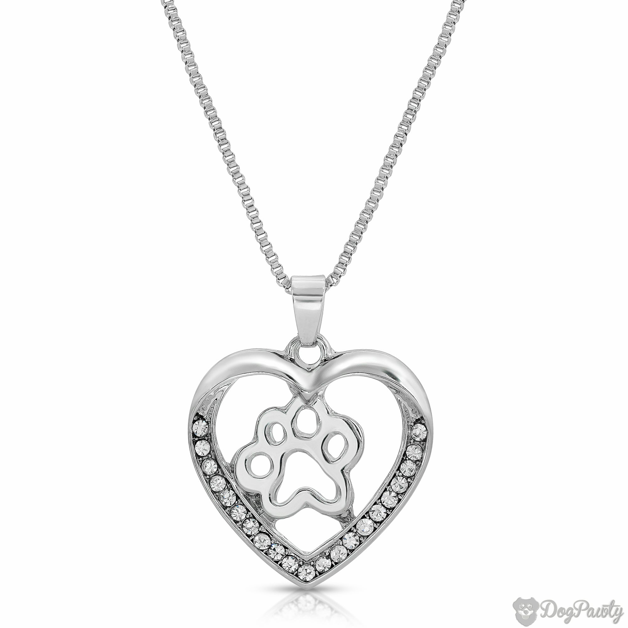 Dog Lover's Heart Necklace
