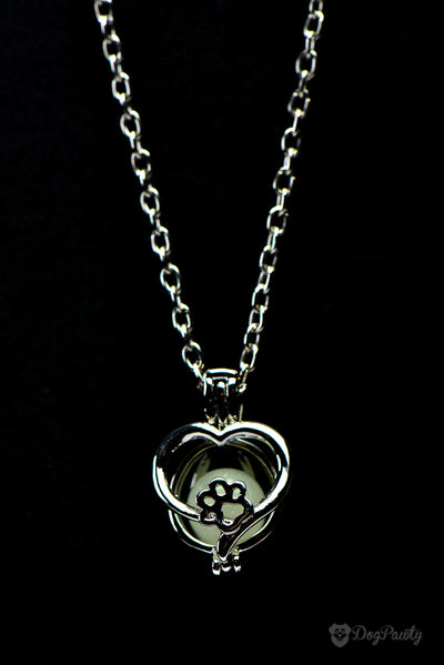 'Paws on My Heart' Glow-In-The-Dark Pendant