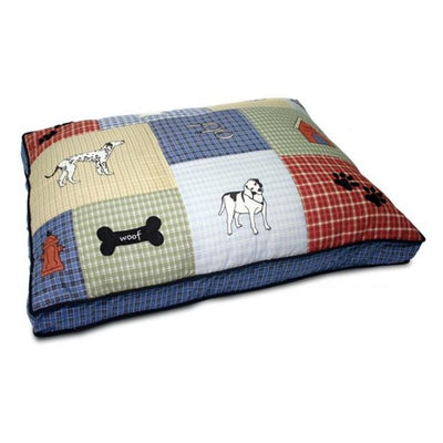 Comfy Quilted Applique Dog Bed