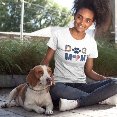 Patriotic Dog Mom Women's T-Shirt