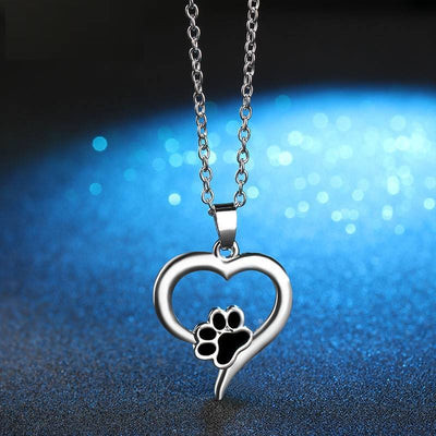 Forever In My Heart Paw Necklace