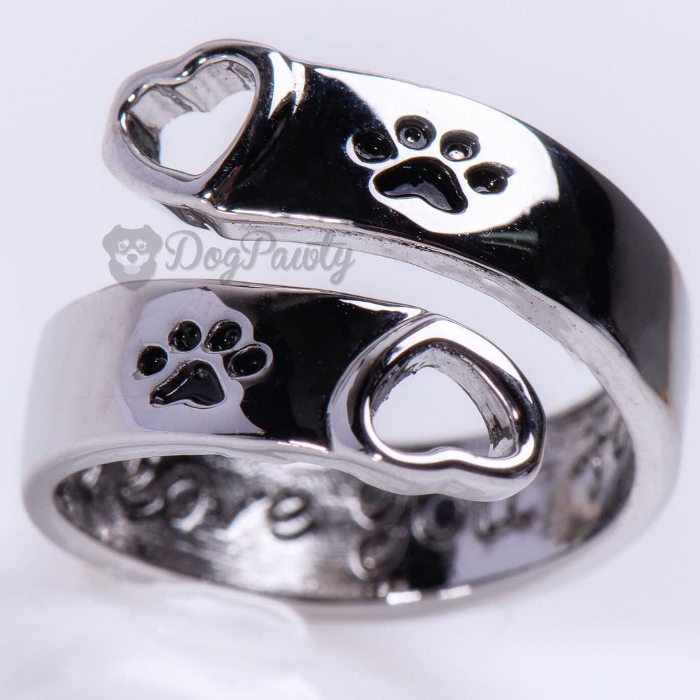 """I Will Love You Forever"" Paw Print Ring"