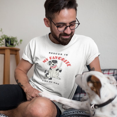 Rescue is My Favorite Kind of Dog Men's T-Shirt