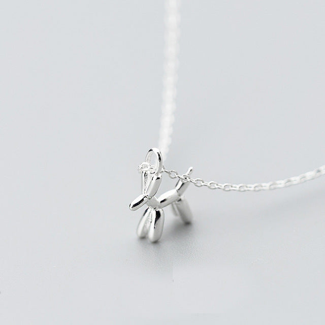 Sterling Silver Balloon Dog Necklace
