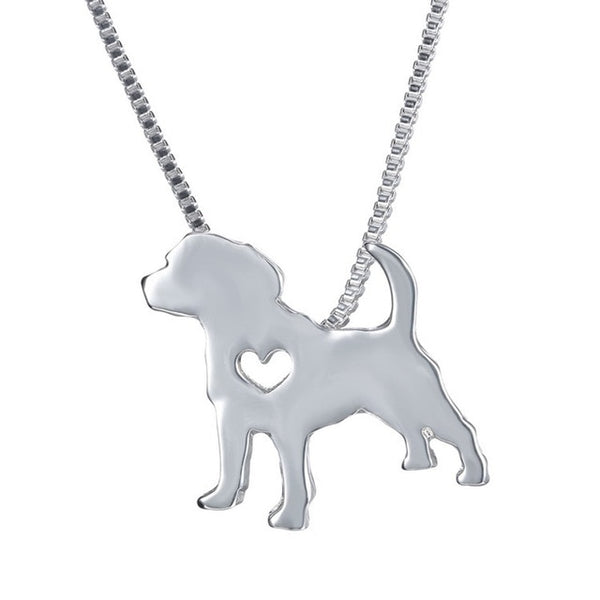 Loving Dog's Heart Necklace